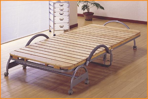 折りたたみ天然木すのこベッド