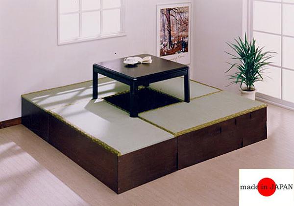 ユニット畳:日本製!ユニット畳シリーズ1畳×4台+半畳×1台合計5台のお得な4.5畳セット!畳付き収納ラック 連結金具付き