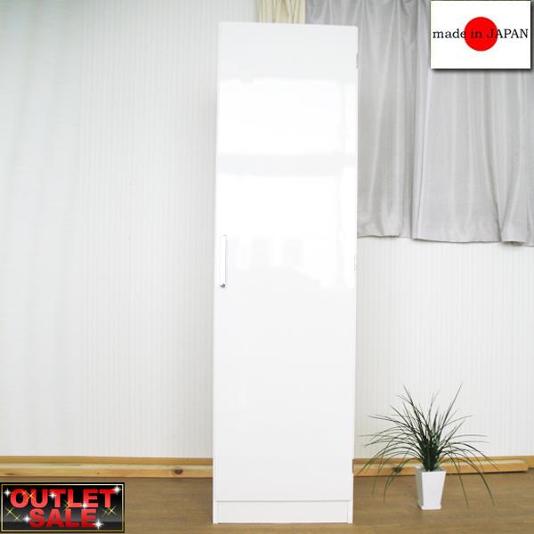 【台数限定アウトレット!】日本製!キッチンストッカー 幅30~ホワイト~スライドトレー式大量収納キッチンストッカー