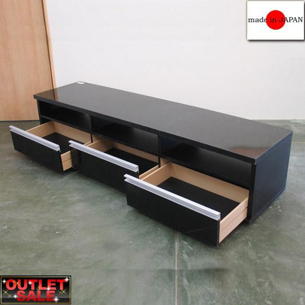 【台数限定アウトレット!】日本製!幅が選べるシンプルモダンTV台 幅178cm~ブラック~