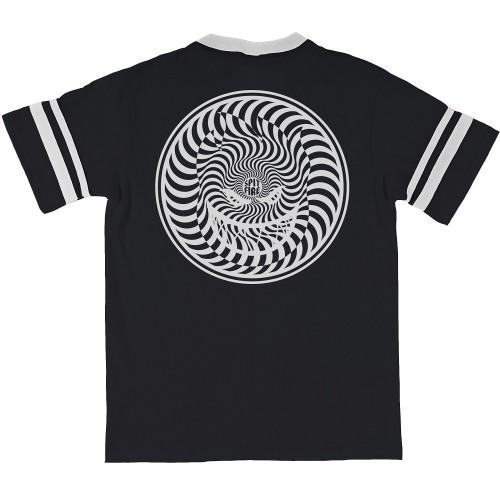 【 スピットファイヤー】【 SPITFIRE  】 HYPNOSWIRL JERSEY BLACK/WHITE T-shirt Tシャツ