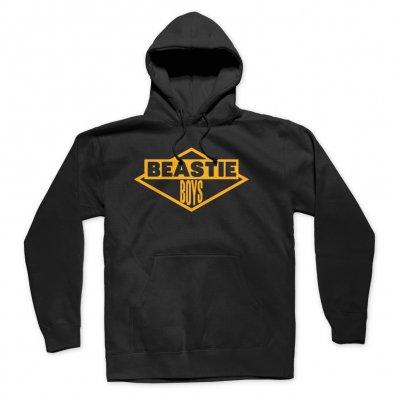BEASTIE BOYS ビースティ・ボーイズ Gold Logo Hoodie (Black) パーカー・オフィシャル!
