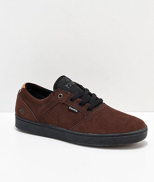【Emerica】 Figgy Dose Brown & Black Skate Shoes エメリカ スケートボード シューズ