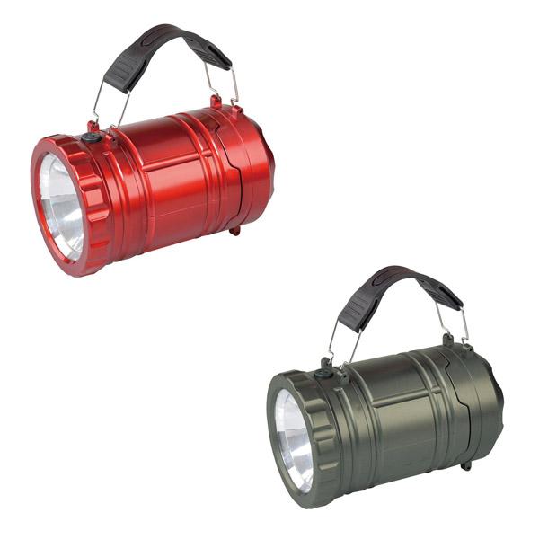 懐中電灯 と ランタン の2通りの使い方ができます [再販ご予約限定送料無料] 送料無料 ライト キャンプ 電池式 テント アウトドア 併用 RE レッド 携帯 アクトライトプラス 防災 年中無休 FIN-770GM ガンメタ