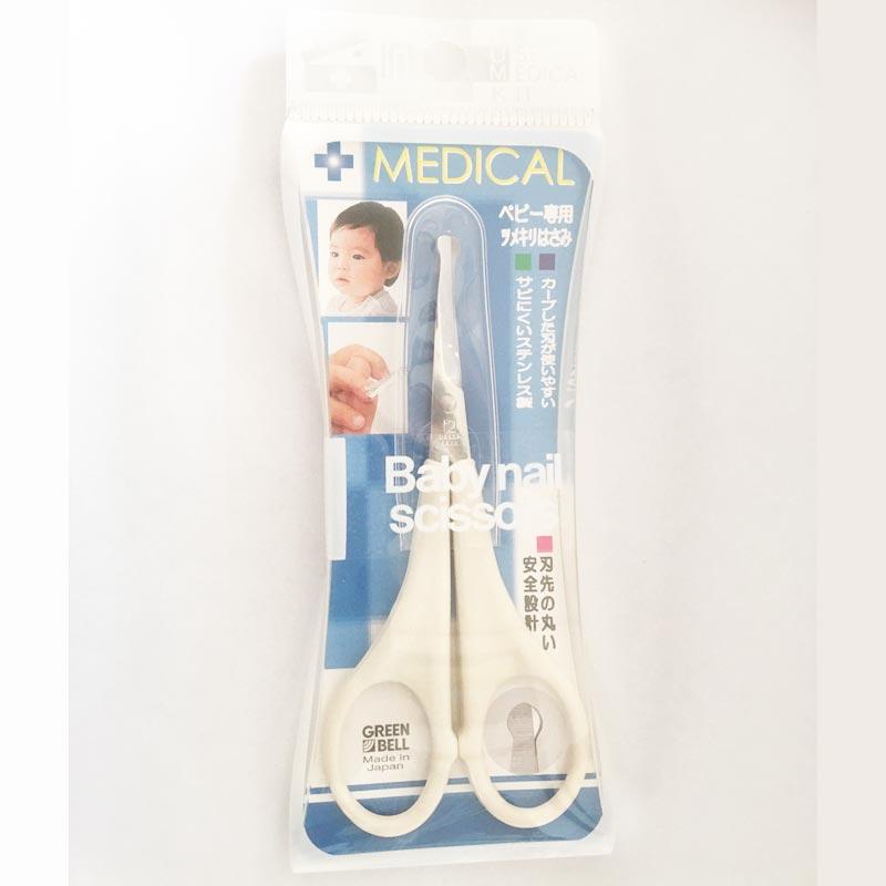 使いやすさと安全を考え刃を手前にカーブさせました グリーンベル ステンレス製 ベビー専用ツメキリはさみ no.69 安い 爪切り 赤ちゃん 賜物 子ども 乳児 送料無料 MEDICAL はさみ 幼児 つめ切り ハサミ