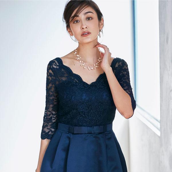 3ef7b27b8c483 ... オードリー亜谷香さん着用パーティードレスワンピース結婚式ドレス大きいサイズパーティー二次会 ...