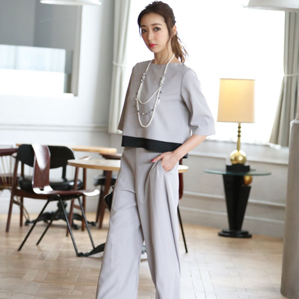 fe4cfacd53df8 ... 高垣麗子さん着用パンツドレス結婚式パーティードレスパンツ大きいサイズドレスパーティー激安 ...