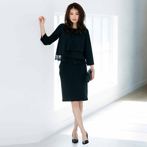 43a9d9ab9d6f1 MAX50%OFF☆SALE中 ブラックフォーマル スーツ 結婚式 ドレス 入学式 ...