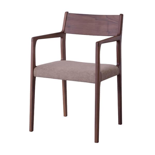 インダストリアル アームチェア リビングチェア イス 椅子 チェアー 天然木 ウォルナット チェア 天然木 日本国産 北欧 カフェ 肘付き 高級感 シンプル ナチュラル おしゃれ JPC-122WAL