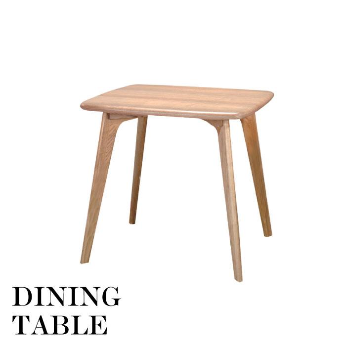 天然木 北欧 スタイル ダイニングテーブル 幅80cm ダイニングテーブル テーブル 天然木 アッシュ かわいい 新生活 省スペース シンプル デザイン 北欧 おしゃれ ナチュラル CL-816TNA