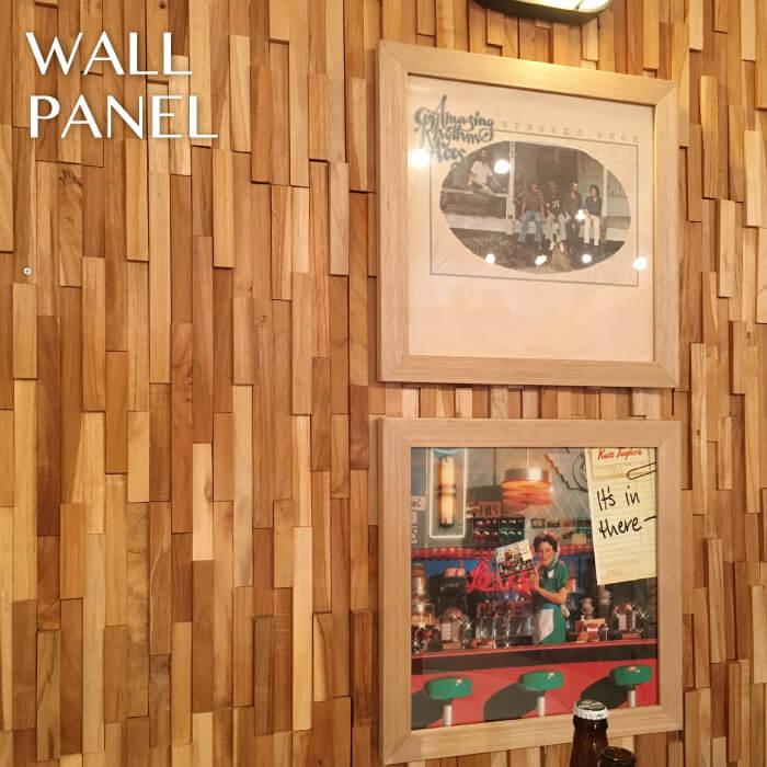 天然木 ウォールパネル 10枚セット 天然木(チーク)縦横両方使用できます。DIY 壁飾り 壁面オブジェ ウッドアート 北欧スタイル WALL-101