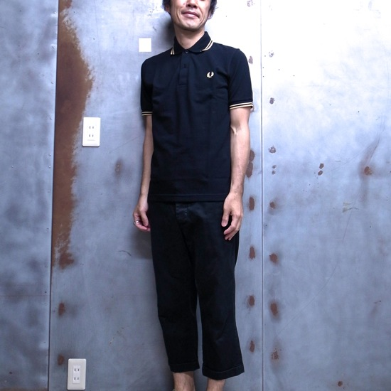 M12N - The Original Twin Tipped Fred Perry Shirt made in United Kingdom line Polo shirts メンズフレッドペリーポロ shirts short sleeve polo shirt Made in England 157: BLACK /CHAMPAGNE 10P06jul13