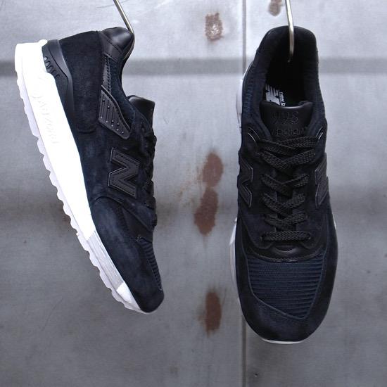 【 new balance / ニューバランス 】【 M 998 NJ 】 BLACK ブラック ◆米国製 日本正規代理店商品