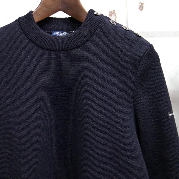 【 SAINT JAMES / セントジェームス 】 CANCALE / カンカル ◆ NAVY[ネイビー] BINIC マリンセーター 肩ボタンセーター 日本正規代理店商品