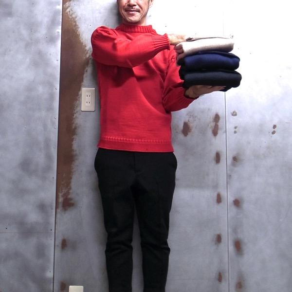 【 Guernsey WOOLLENS / ガンジーウーレンズ 】 Trad Guernsey Oversized Pullover ガンジー セーター オーバーサイズ ガンジーニット マリンセーター フィッシャーマンズセーター MADE IN GUERNSEY BRITISH ISLES