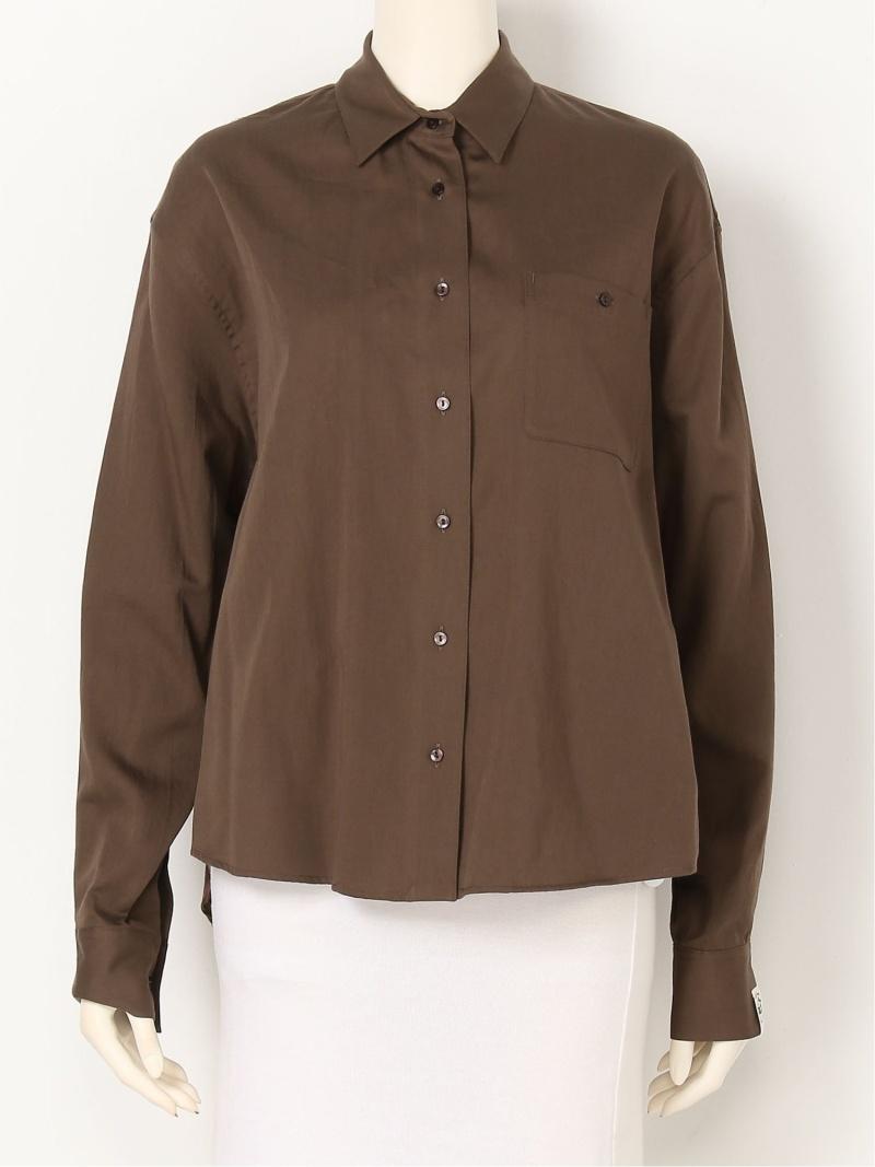 [Rakuten Fashion]【SALE/20%OFF】フードテキスタイルシャツ Lily Brown リリーブラウン シャツ/ブラウス 長袖シャツ ブラウン ホワイト【RBA_E】【送料無料】