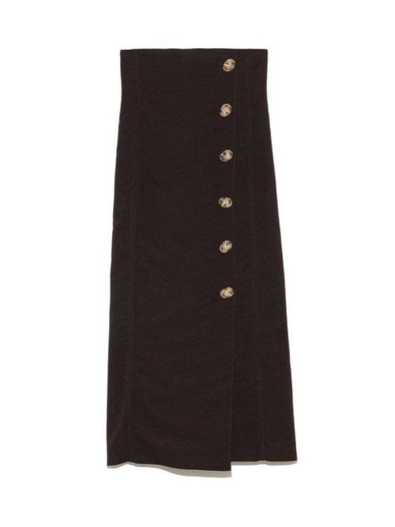 [Rakuten Fashion]ボタンラップタイトスカート Lily Brown リリーブラウン スカート タイトスカート ブラウン ホワイト オレンジ【先行予約】*【送料無料】