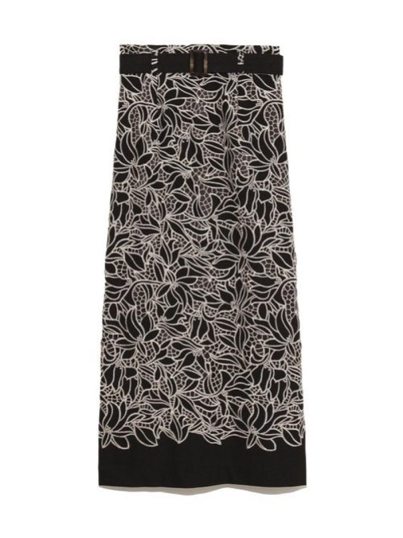[Rakuten Fashion]レーススカート Lily Brown リリーブラウン スカート ロングスカート ブラック ブルー ホワイト【先行予約】*【送料無料】