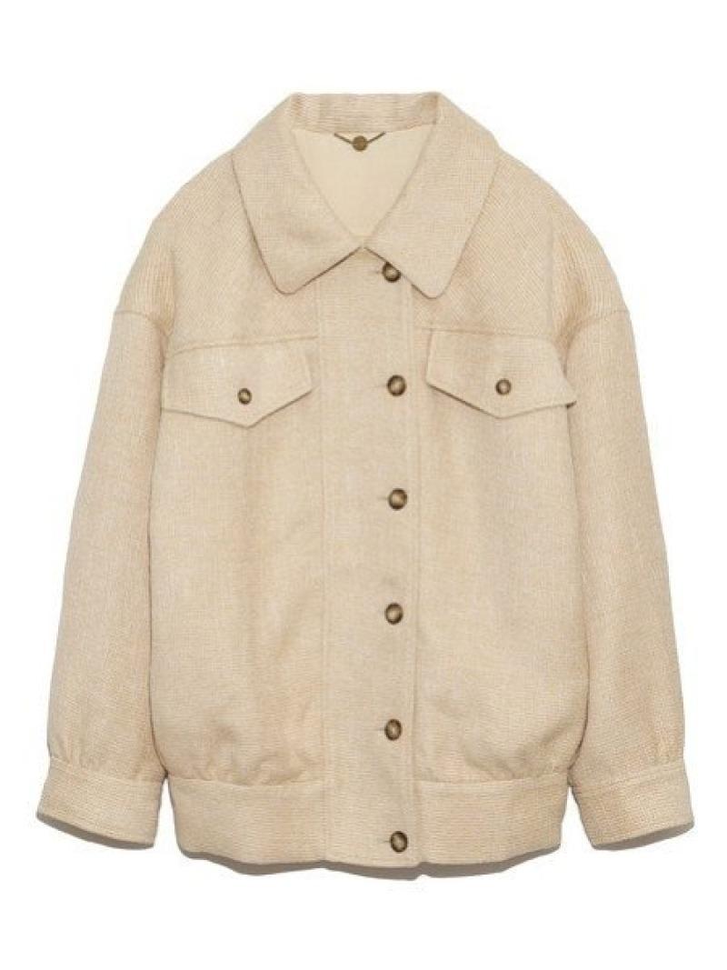 [Rakuten Fashion]ツイードオーバージャケット Lily Brown リリーブラウン コート/ジャケット コート/ジャケットその他 ベージュ ブラウン ピンク【送料無料】