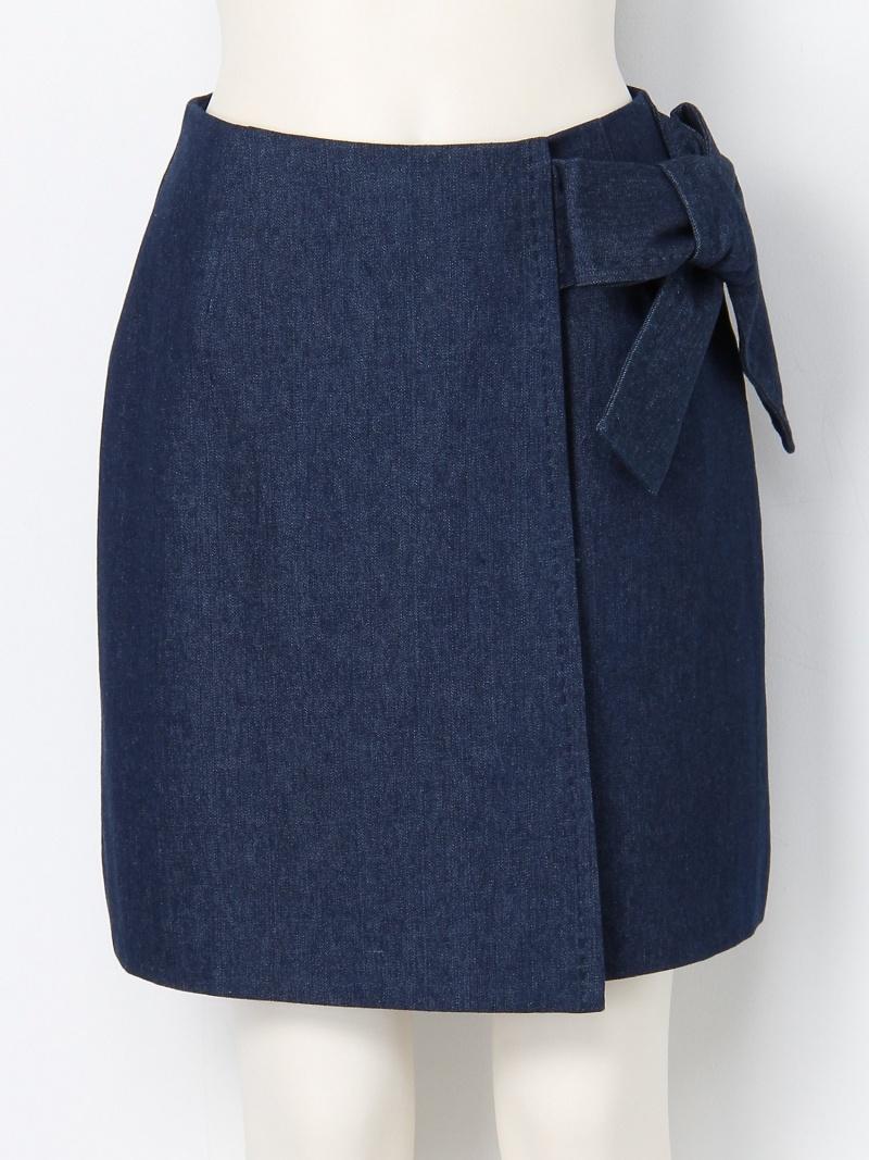 [Rakuten Fashion]【SALE/45%OFF】ラップ風台形スカート Lily Brown リリーブラウン スカート 台形スカート/コクーンスカート ネイビー ピンク イエロー【RBA_E】【送料無料】