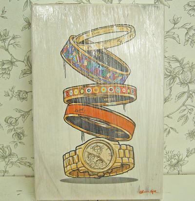 【送料無料】<海外ドラマ「ゴシップガール」にも登場!人気のアート作品>Oliver Gal(オリバーガル)/Orange Arm Candy/サイズ:25.4cm×38.1cm