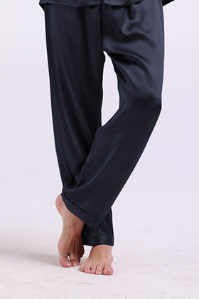『高品質シルク100%』【LilySilk】 22匁シルク メンズ シルクパンツ【ロング】【こだわりシルク】【22匁シルク メンズ】【セクシー】【汗を吸収】【保温】【吸汗】【抗菌】