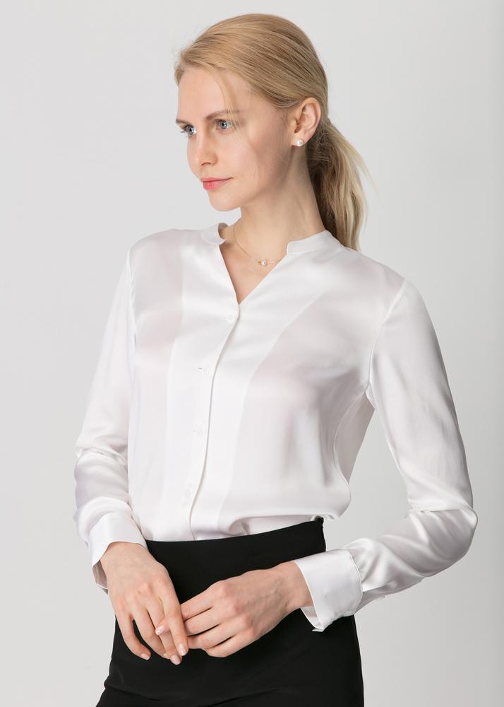シルクシャツ シルク レディース シャツ Yシャツ ブラウス 長袖 ビジネス オフィス シルク100% ワイシャツ 通勤 ol 事務 制服 事務服 送料無料 母の日 プレゼント
