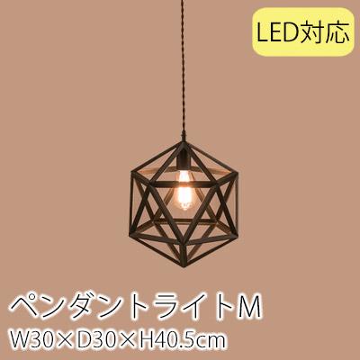 ペンダントライトM(W30×D30×H40.5cm)/ライト ペンダントライト 電気 電球 照明 北欧 おしゃれ アンティーク ヴィンテージ 1灯 ブルックリン 西海岸 新生活