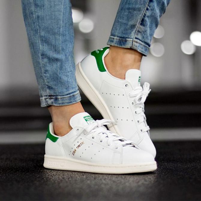 buy popular 3b0bc 3eb5b ADIDAS STAN SMITH r.white/r.white/green