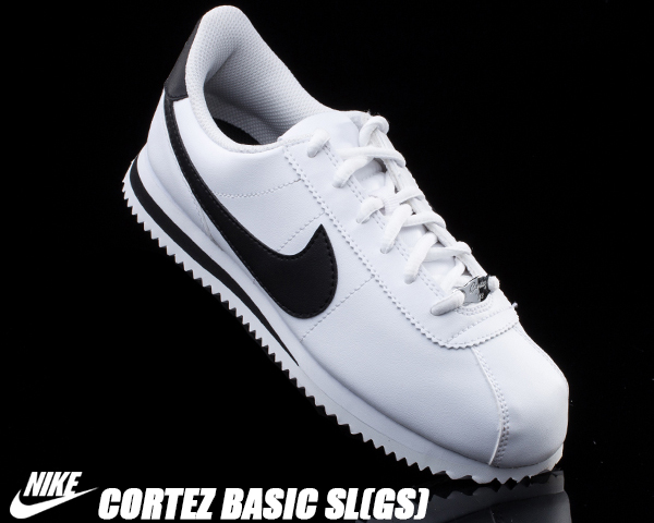 buy popular 62b47 47b26 NIKE CORTEZ BASIC SL(GS) wht blk. Lady s size NEW color of コルテッツ to boast  of the popularity that is higher than love monkey sports brand NIKE to from  ...