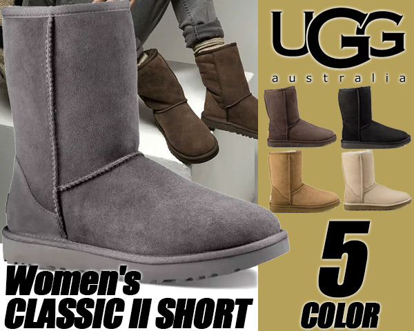 UGG WOMEN'S CLASSIC SHORT II 1016223 【アグ ブーツ レディース UGG ムートンブーツ クラシック ショート】