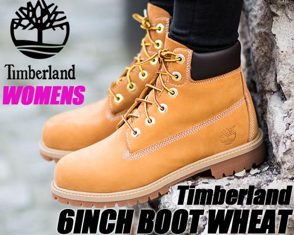 TIMBERLAND JUNIOR'S 6INCH BOOTWHEAT wheat/brn 【ティンバーランド レディース ブーツ ジュニアサイズ 6インチブーツ】