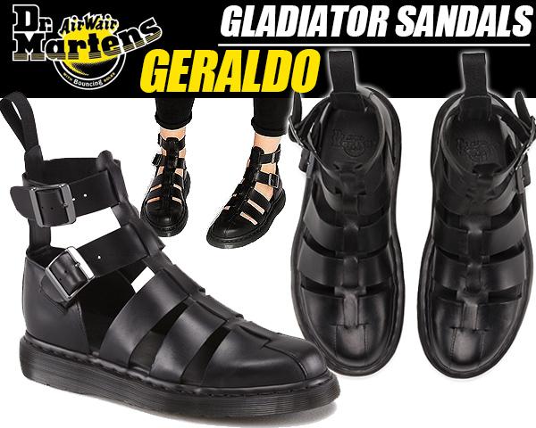 Dr.Martens GERALDO GLADIATOR SANDAL BLACK ドクターマーチン ジェラルド グラディエーター サンダル ストラップサンダル レディース ブラック コンフォート