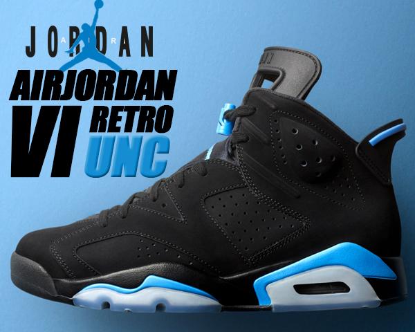 NIKE AIR JORDAN 6 RETRO UNC black/university blue 【ナイキ エアジョーダン 6 エア ジョーダン VI メンズ スニーカー ブラック ユニバーシティーブルー】