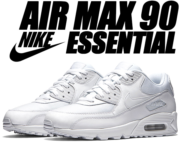 NIKE AIR MAX 90 ESSENTIAL whitewhite wht 537,384 111 Kie Ney AMAX 90 essential sneakers white white men