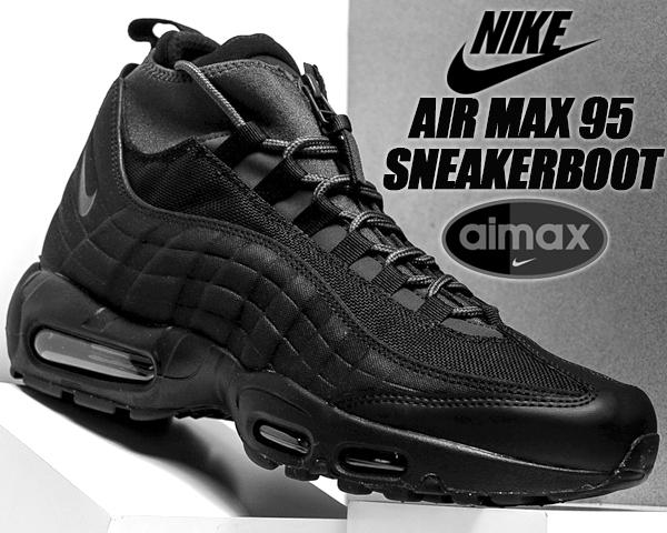 Men Fine Nike Air Max 95 Sneakerboot 806809 001 BlackBlack