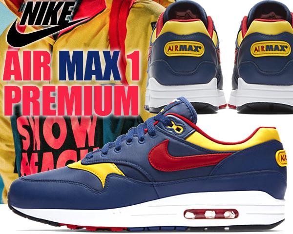 the best attitude e3c70 2edd4 NIKE AIR MAX 1 PREMIUM navy gym red-vivid sulfur  エア マックス I プレミアム スニーカー  日本未発売 ナイキ エアマックス 1 93 PACK