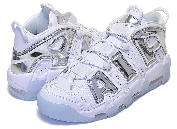 【楽天市場】nike Wmns Air More Uptempo White Chrome Blue Tint