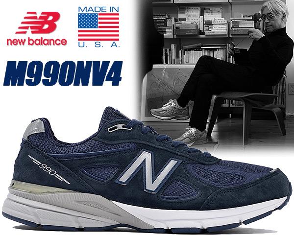 NEW BALANCE M990NV4 MADE IN U.S.A. ニューバランス スニーカー 990 V4 ワイズ D ネイビー メンズ 靴 カジュアルシューズ ランニングシューズ