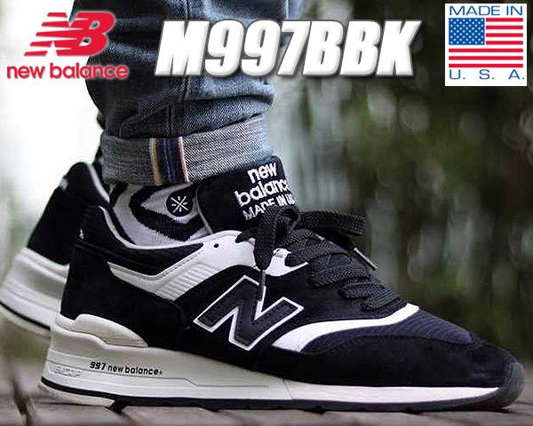 NEW BALANCE M997BBK MADE IN U.S.A【ニューバランス スニーカー NB 997 BLACK メンズ 靴】