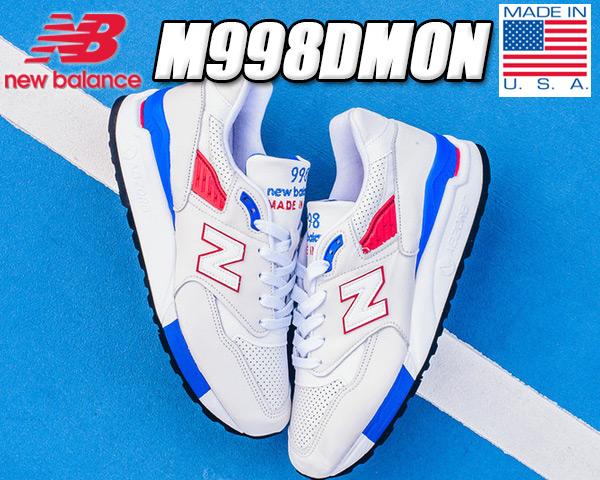 【ニューバランス M998】NEW BALANCE M998DMON MADE IN U.S.A.【メンズ スニーカー NB US DMIN トリコロール】