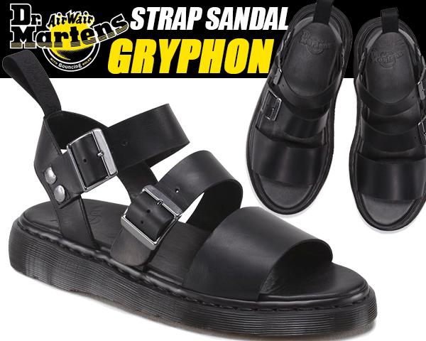 Dr.Martens GRYPHON STRAP SANDAL blk 15695001 ドクターマーチン サンダル グラディエーター グリフォン ストラップ サンダル レディース ウィメンズ