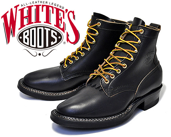 White's Boots Bounty Hunter 350W Black Horween Chromexcel 【ホワイツ ブーツ バウンティハンター BOOTS ブーツ メンズ ワークブーツ Horween 6インチ ブーツ プレーントゥ ブラック セミドレス フォルスタン ハンドソーンウェルテッド製法 ステッチダウン】