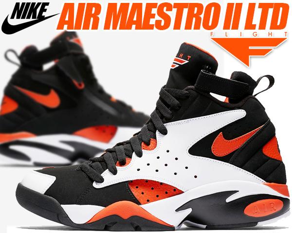 NIKE AIR MAESTRO II LTD white/rush orange-black ah8511-101 ナイキ エア マエストロ 2 LTD スニーカー スコッティ ピッペン エアマエストロ エア フライト