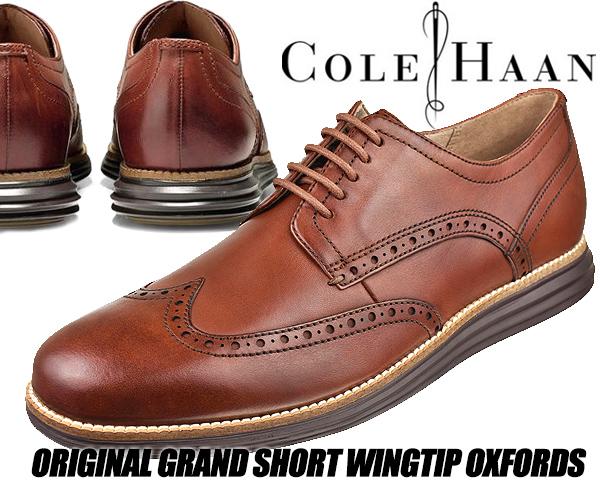 COLE HAAN ORIGINAL GRAND SHWNG woodbury/java 【コールハーン メンズ 靴 走れる ビジネスシューズ ドレスシューズ カジュアルシューズ ウイングチップ 外羽根 ブラウン 革靴】