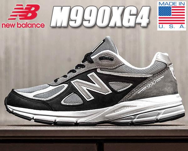 NEW BALANCE M990XG4 MADE IN U.S.A. 【ニューバランス M990V4 スニーカー メンズ ネイビー グレー NB 990 ヌバック メッシュ ランニングシューズ カジュアルシューズ】