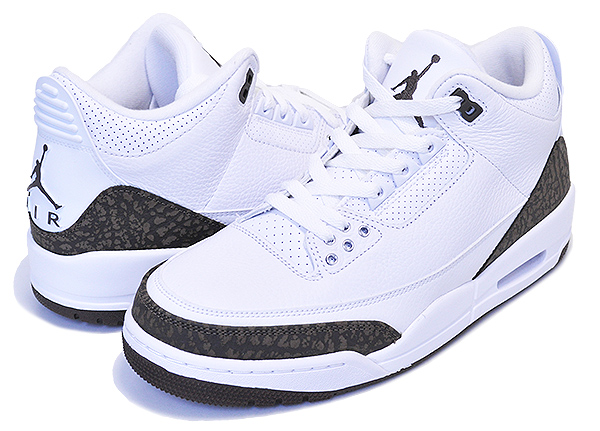 quality design 32451 d1953 NIKE AIR JORDAN 3 RETRO white/dark mocha-chrome Nike Air Jordan 3 sneakers  AJ III men white MOCHA Mocha elephant