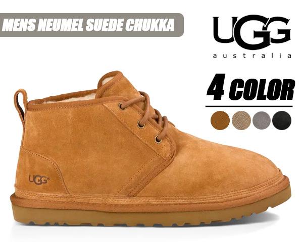 UGG MENS NEUMEL SUEDE CHUKKA BOOTS 3236 アグ メンズ ニューメル チャッカーブーツ メンズ ムートンブーツ ブラック チェスナット チャコール ダークフォーン