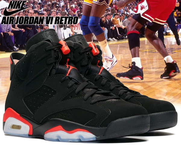 first look best place fashion styles NIKE AIR JORDAN 6 RETRO black/infrared 384,664-060 Nike Air Jordan 6  sneakers AJ infrastructure red black BRED