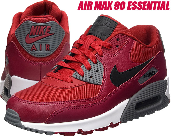 newest 4dec5 8d794 NIKE AIR MAX 90 ESSENTIAL gym red/black-noble red